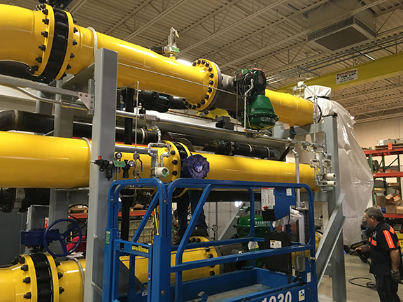 Custom designed ATTEC direct steam injection skid systems