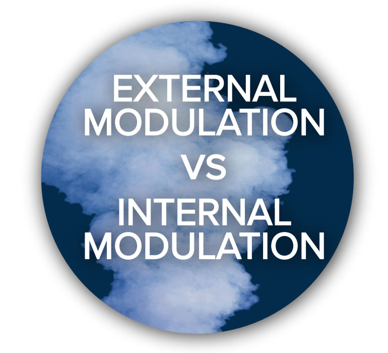 External Modulation vs Internal Modulation Button