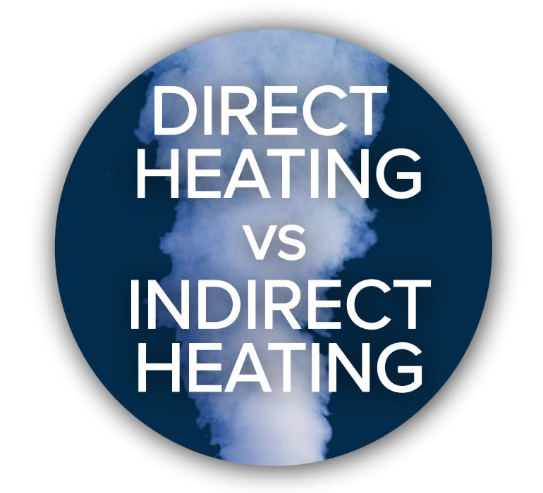 Direct Heating vs Indirect Heating Button